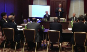 J. Mark Penny, ASA speaks before a group of Japanese valuation, financial and government representatives.