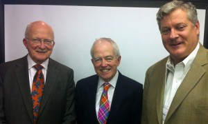 (Left to right) Lee P. Hackett, FASA, Sir David Tweedie, IVSC Chairman and J. Mark Penny, ASA.