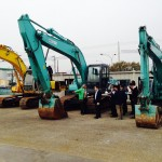 Students had access to a variety of excavators and other equipment as part of the seminar.