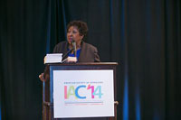 The City of Savannah Mayor, the Honorable Edna Branch Jackson speaking at IAC 2014.