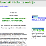 Sample of the eblast that the Slovenian Institute of Auditors have sent out to promote ASA's ARM207.