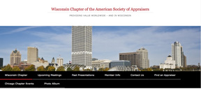 ASA's Wisconsin Chapter's website home page.