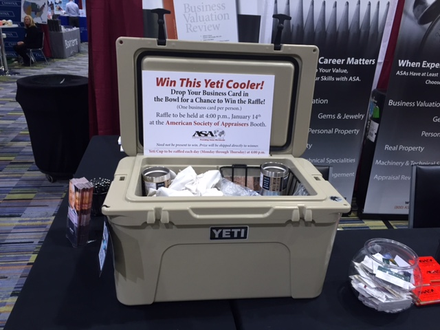 Asa attends the 50th annual heckerling institute on estate planning asa gave away 4 yeti mugs and 1 large yeti cooler pictured as raffle colourmoves