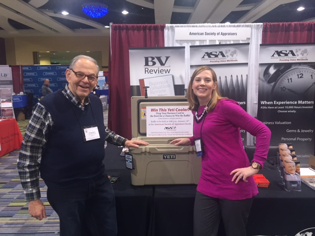 The winner of our Yeti cooler, Irving Silver and ASA's Accreditation and Reaccreditation Specialist, Megan Seid.