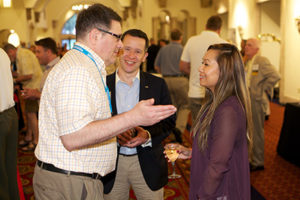 Attendees unwinding and networking amongst each other