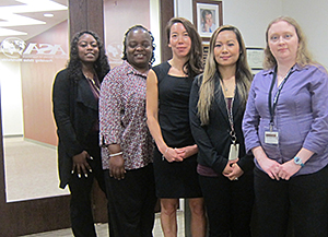 ASA's Membership Department (left to right): Brittani Agee, Terri Walker, Angelica Sullivan, Sabriya Tony and Anna Culpepper.
